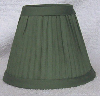 New SAGE GREEN Pleated Mini Chandelier Lamp Shade