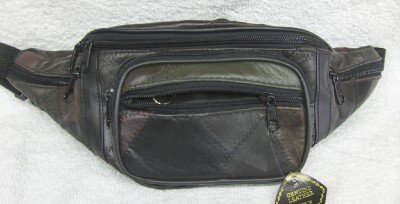 Genuine Patchwork Leather Fanny Pack - #7078 -MULTI