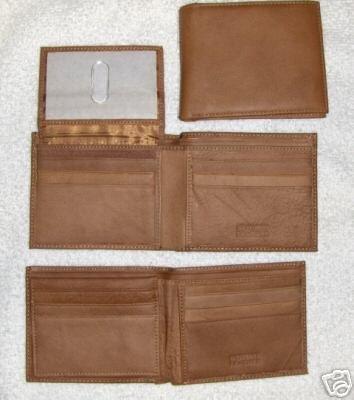 Genuine Leather Men's BiFold Wallet- #3122 Lt. Brown