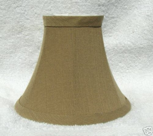 New TAUPE WOVEN Mini Chandelier Lamp Shade