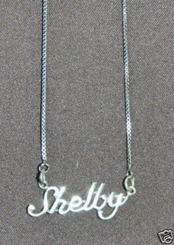 Sterling Silver Name Necklace - Name Plate - SHELBY