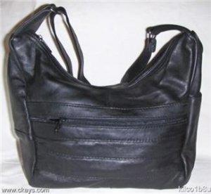 New Leather Shoulder Bag, Purse, Handbag -3003 BLACK