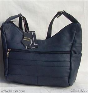 New Leather Shoulder Bag, Purse, Handbag -3003 NAVY