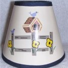 BIRDHOUSE on FENCE Mini Paper Chandelier Lamp Shade