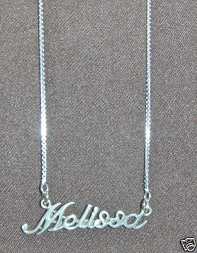 Sterling Silver Name Necklace - Name Plate - MELISSA