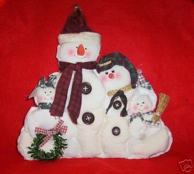 Muslin Snowman Family - Country/Primitives~Very Cute~