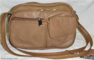Genuine Leather Purse, Shoulder, Handbag 3013-LT.BROWN