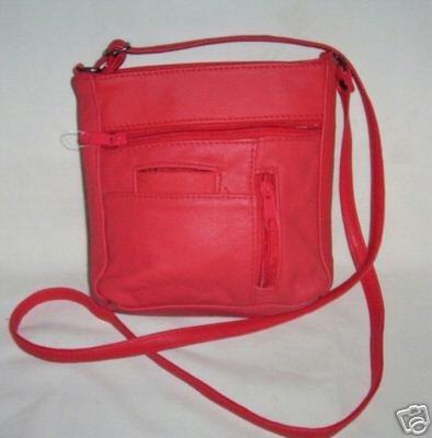 Genuine Leather Shoulder Bag/Handbag #3011 RED