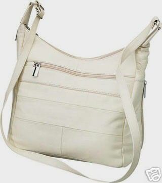 Genuine Leather Shoulder Bag/Handbag #74 CREAM