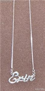 Sterling Silver Name Necklace - Name Plate - ERIN