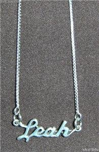 Sterling Silver Name Necklace - Name Plate - LEAH