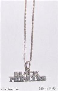 Sterling Silver Necklace - BLACK PRINCESS