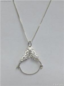 Sterling Silver Charmholder Necklace-Large Filigree