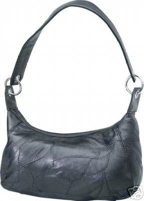 Genuine Leather Shoulder Bag/Handbag #94 BLACK