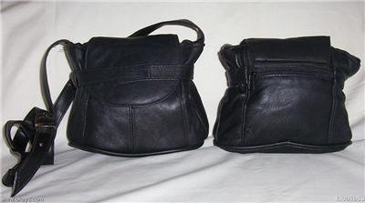 Genuine Leather Shoulder Bag/Handbag #3015 BLACK