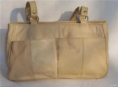 Genuine Leather Shoulder Bag/Handbag #45 TAN