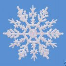 "10 pc. PEARLIZED 4"" Glitter Plastic Snowflake Ornaments"