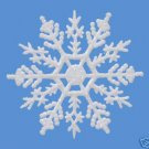 "10 pieces WHITE 4""Glittered Plastic Snowflake Ornaments"