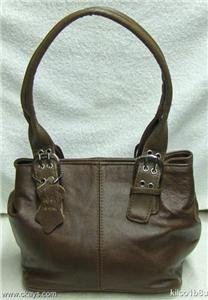 Genuine Leather BROWN Purse-Handbag-Shoulder Bag #3619