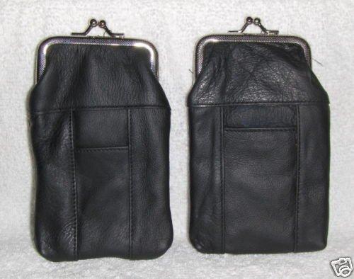 New Genuine Leather Soft Cigarette Case - BLACK