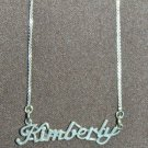 Sterling Silver Name Necklace - Name Plate - KIMBERLY