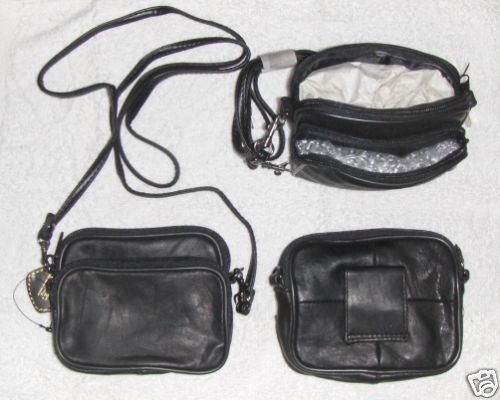 Genuine Leather Tiny Shoulder Bag or Belt Pack 3105