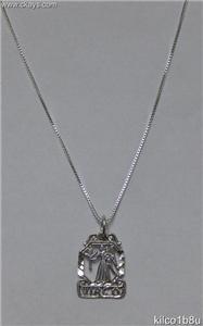 Sterling Silver Zodiac Necklace - VIRGO