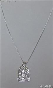 Sterling Silver Zodiac Necklace - SCORPIO