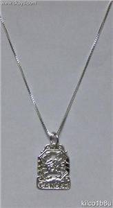 Sterling Silver Zodiac Necklace - CANCER