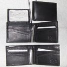 Genuine Leather Men's Bifold Wallet- #533 BLACK