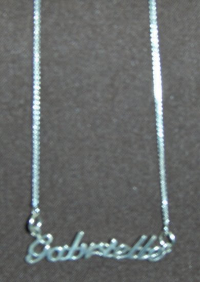 Sterling Silver Name Necklace - Name Plate - GABRIELLE