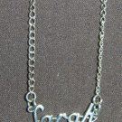 Sterling Silver Name Necklace - Name Plate - SARAH