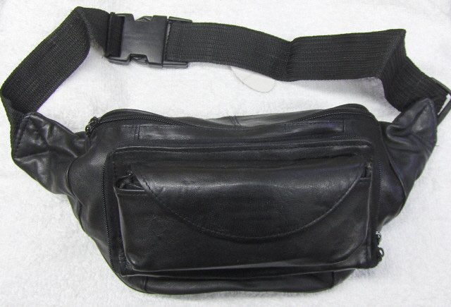 Leather Fanny Pack w/Eyeglass Case & Organizer #BB225
