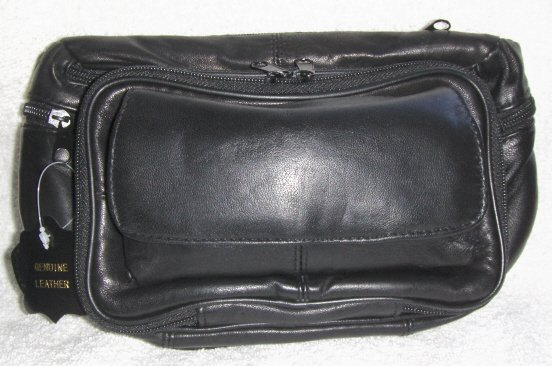 Leather Fanny Pack w/Eyeglass case,organizer & more #3075