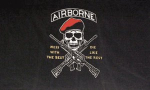 Airborne Flag - Mess with the Best  3' x 5' Flag