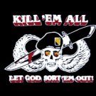 Kill 'em All - Let GOD Sort 'em Out Flag  3' x 5' Flag