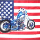 USA Flag with Motorcycle 3' x 5' Flag