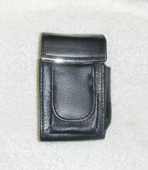 Genuine Leather Hard Cigarette Case - BLACK