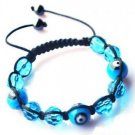 "Aqua Evil Eye Beaded Bracelet or Anklet Adjustable 7""-10"" avail. in 5 colors"