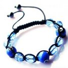 "Blue Evil Eye Beaded Bracelet or Anklet Adjustable 7""-10"" avail. in 5 colors"