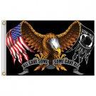 P.O.W. All Gave Some - Some Gave All  w/Eagle M.I.A - P.O.W Flag 3' x 5' Polyester Flag