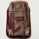 Genuine Leather Soft Cigarette Case - DARK BURGUNDY