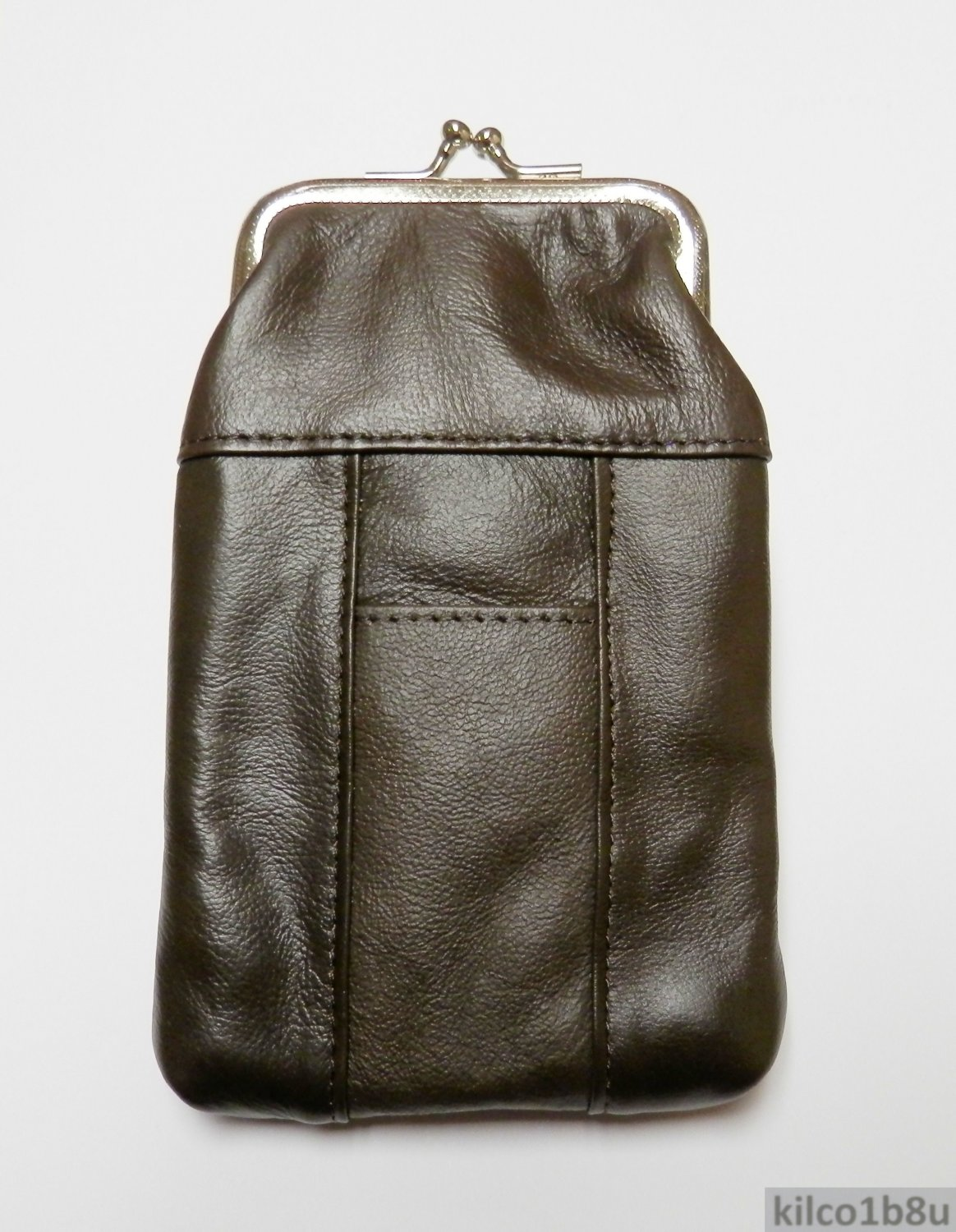 New Genuine Leather Soft Cigarette Case - DARK BROWN