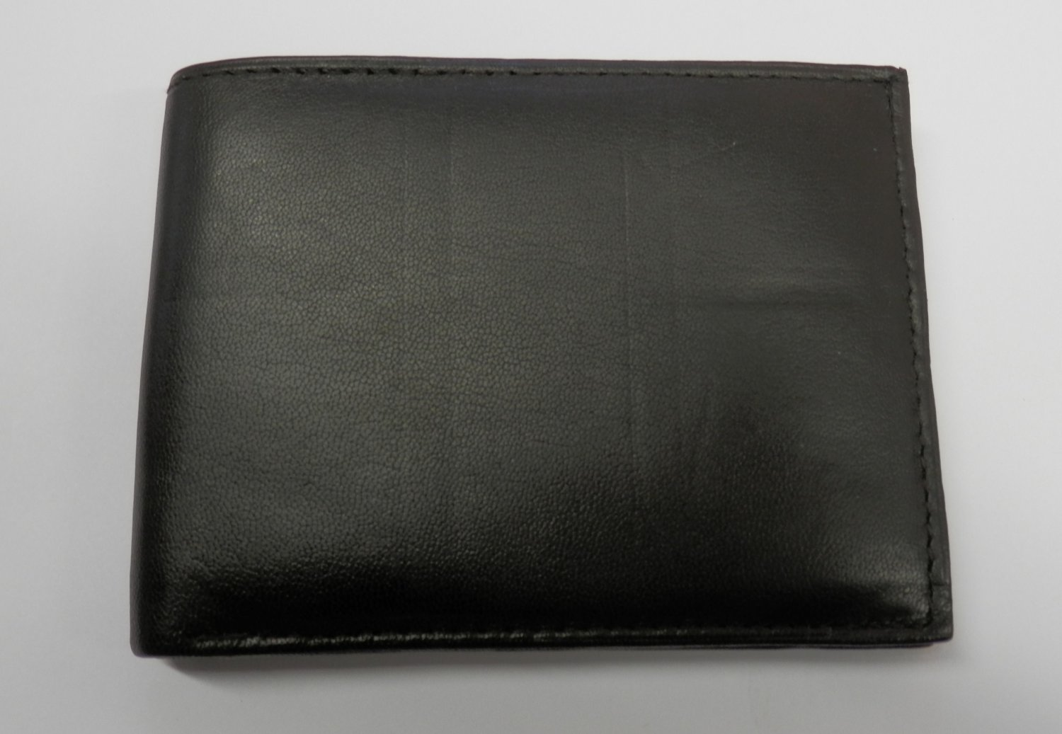 Genuine Leather Men's Bifold Wallet- #60 DK. BROWN