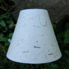 Antique White Textured Chandelier - Mini Lamp Shade