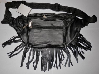 Genuine Leather Fanny Pack with Fringes