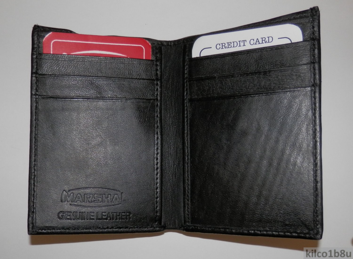 Genuine Leather Men's Bifold Wallet #71 BLACK