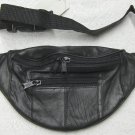 Genuine Leather Petite Fanny Pack #07-Black