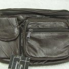 Genuine Patch Leather Fanny Pack - #7073 -DARK BROWN
