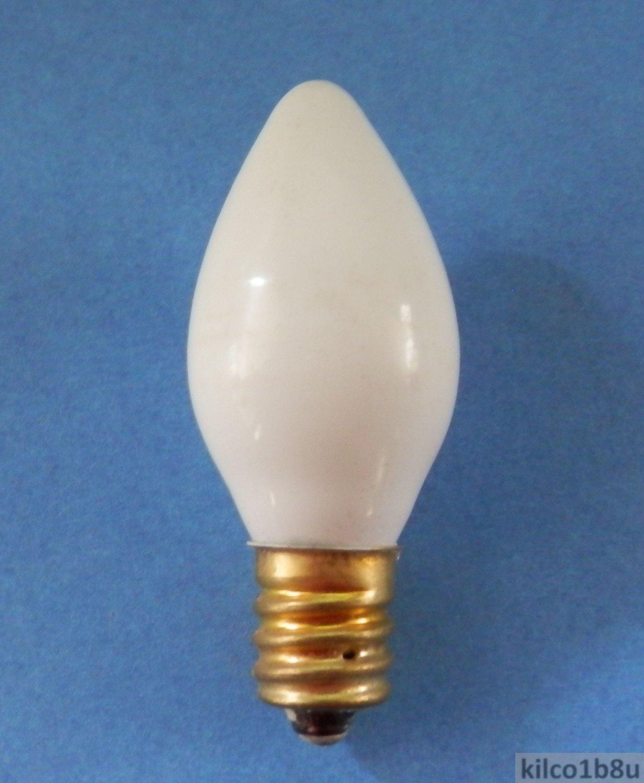 2 WHITE Opaque 7.5 Watt Steady Burn Light Bulbs